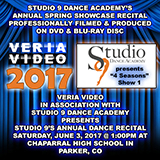 Veria Video In Association With Studio 9 Dance Academy presents the studio's annual spring showcase dance recital production held on Saturday, June 3, 2017, 1PM at Chaparral High School in Parker, CO.