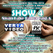 Veria Video In Association With The Colorado School of Dance in Parker, CO presents the Swan Lake Ballet Cast A Showcase as performed on Saturday, June 4, 2016 at 7:00 p.m.