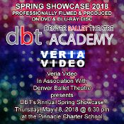 Veria Video In Association With Denver Ballet Theater Academy presents the studio's Spring Showcase production held on Thursday May 18, 2017, 6:30PM at the Lakewood Cultural Center in Lakewood, CO.